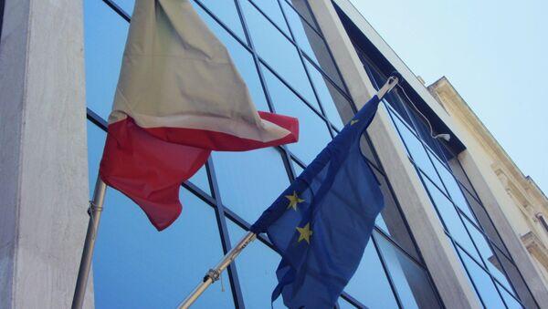 Les drapeaux de l'Italie et de l'UE - Sputnik France