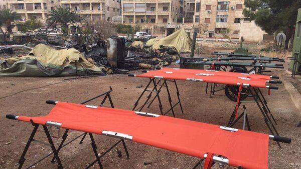 Мобильный госпиталь Минобороны РФ в Алеппо подвергся обстрелу - Sputnik France