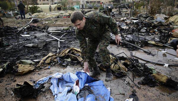 Les conséquences du bombardement d'un hôpital mobile russe à Alep - Sputnik France