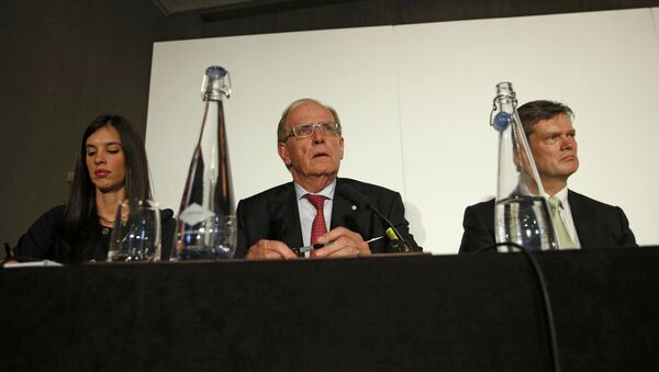 Lawyer Richard McLaren (C) delivers his second and final part of a report for the World Anti-Doping Agency (WADA), at a news conference in London, Britain December 9, 2016. - Sputnik France