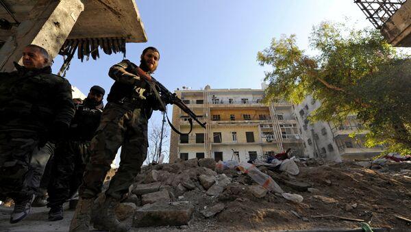 Les forces armées fidèles au président syrien à Alep, le 9 décembre 2016 - Sputnik France