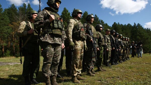 Participants in the open small arms shooting competitions of the task force units of law-enforcement bodies. (File) - Sputnik France