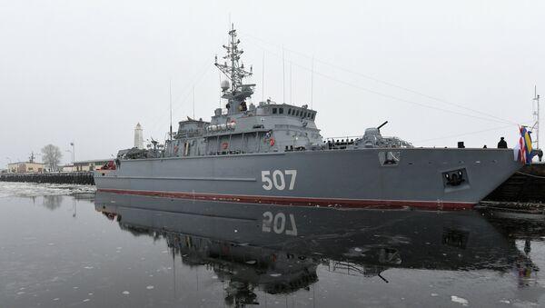 Vaisseau amiral de lutte antimine de nouvelle génération nommé Alexandre Oboukhov - Sputnik France