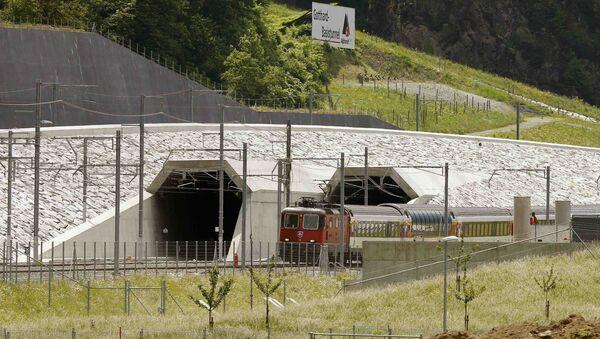 Gotthard Base Tunnel - Sputnik France