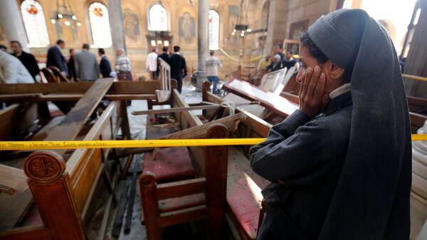 La cathédrale Saint-Marc du Caire suite à une attentat à la bombe - Sputnik France