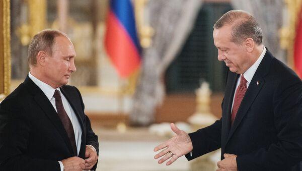 Recep Tayyip Erdogan et Vladimir Poutine - Sputnik France