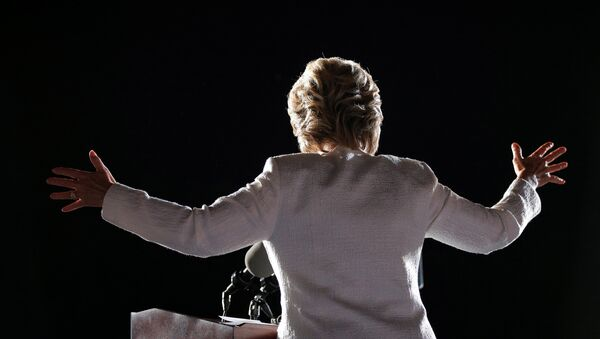U.S. Democratic presidential nominee Hillary Clinton speaks at a campaign rally in Ft. Lauderdale - Sputnik France
