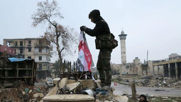 Военнослужащие в освобожденном квартале восточного Алеппо - Sputnik France