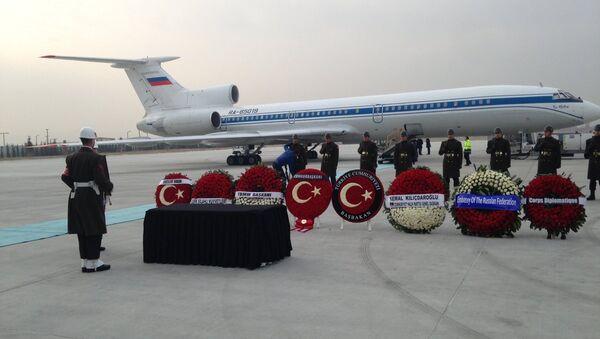 EN DIRECT: Rapatriement du corps de l'ambassadeur russe tué à Ankara - Sputnik France