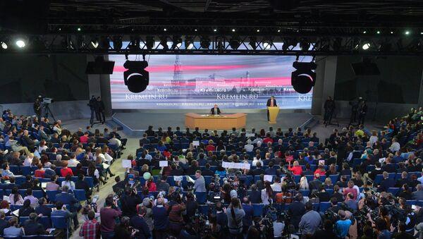 Одиннадцатая ежегодная большая пресс-конференция президента России Владимира Путина - Sputnik France