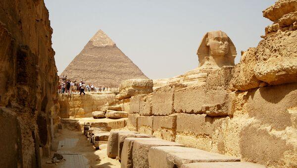 Великая пирамида Гизы Пирамида Хеопса и Большой сфинкс, Египет - Sputnik France