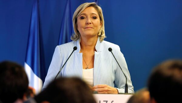 Marine Le Pen, French National Front (FN) political party leader, delivers a statement on U.S. election results at the party headquarters in Nanterre, France, November 9, 2016 - Sputnik France