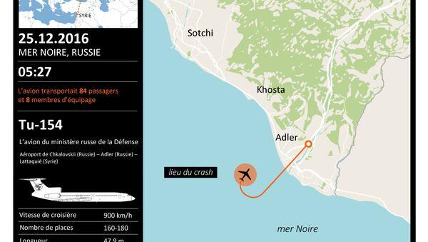 Crash de l'avion Tu-154 - Sputnik France