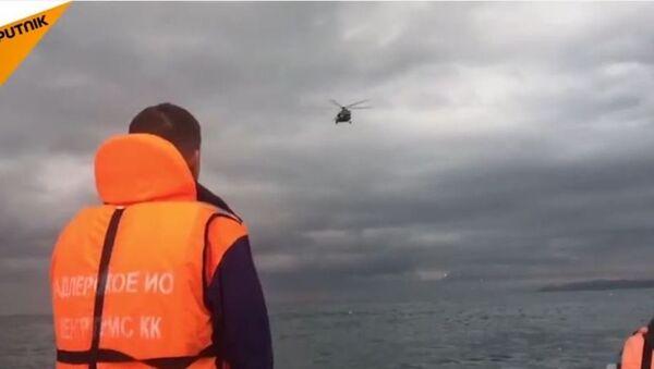 L'opération de recherche sur le lieu du crash du Tu-154 - Sputnik France