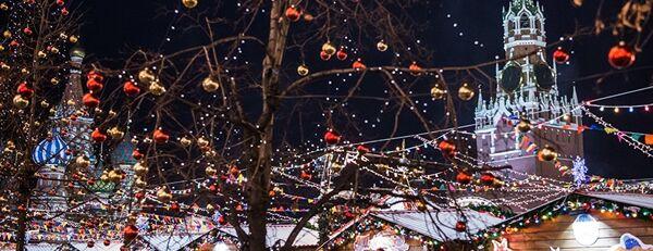 La Place Rouge de Moscou décorée pour les fêtes de fin d'année - Sputnik France
