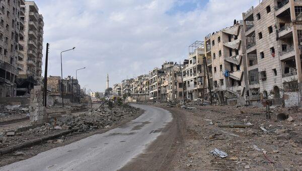 Destroyed quarters of liberated Aleppo. - Sputnik France