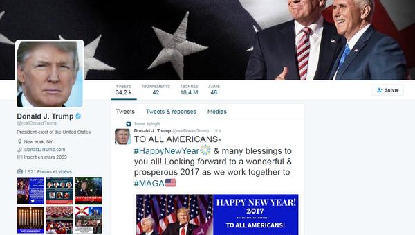 La page officielle de Donald Trump sur Twitter - Sputnik France