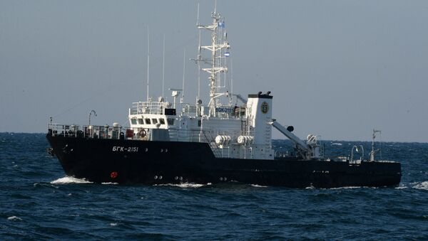 Large inshore survey boat during a submarine crew rescue drill. File photo - Sputnik France
