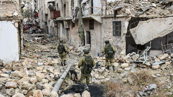 Les sapeurs russes poursuivent l'opération de déminage dans Alep-Est, en Syrie. - Sputnik France