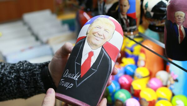 A Russian matryoshka doll with an image of US presidential candidate Donald Trump at a gift shop - Sputnik France