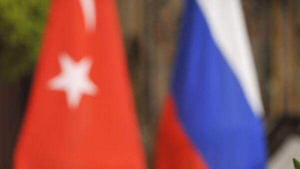 Les drapeaux turc et russe - Sputnik France