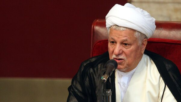 Akbar Hashemi Rafsanjani, head of Iran's Assembly of Experts, a body of 86 senior clerics charged with monitoring Supreme Leader Ayatollah Ali Khamenei and choosing his successor, delivers a speech during a session of the assembly, in Tehran, Iran, Tuesday, Sept. 4, 2007. - Sputnik France