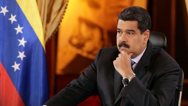 Venezuela's President Nicolas Maduro attends an agreement signing ceremony with representatives of oil companies: Venezuelan Delta Petroleum and India's ONGC Videsh Limited - Sputnik France