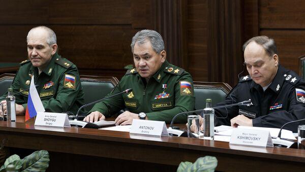 Рабочая встреча министра обороны РФ С. Шойгу и министра обороны Ирана Х. Дехгана - Sputnik France