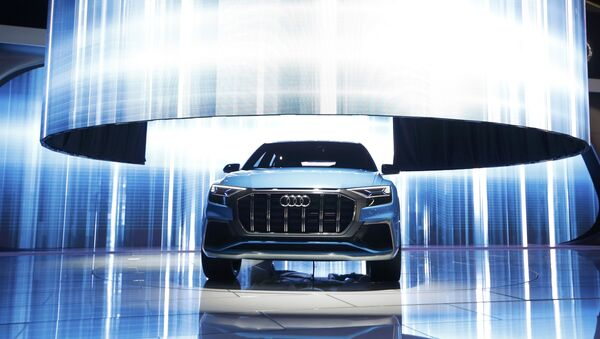 The Audi Q8 concept car is introduced during the North American International Auto Show in Detroit, Michigan, U.S., January 9, 2017 - Sputnik France
