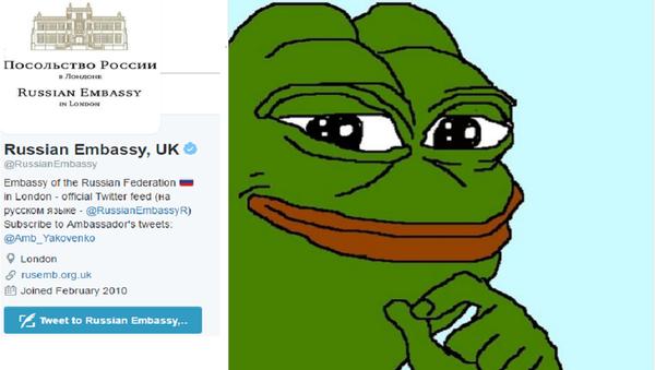 L'ambassade russe taquine Londres avec Pepe la grenouille, la Toile s'enflamme - Sputnik France
