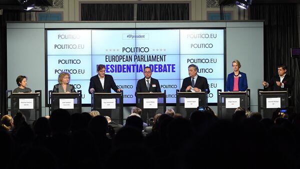 Eleonora Forenza, Jean Lambert, Guy Verhofstadt, Gianni Pittella, Antonio Tajani, Helga Stevens et Laurentiu Rebega - Sputnik France