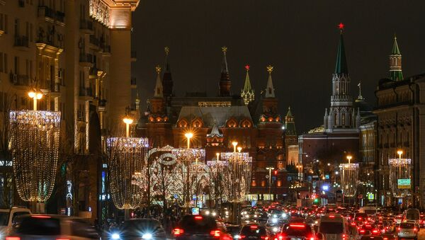 Moscow's Tverskaya Street decorated for the New Year - Sputnik France
