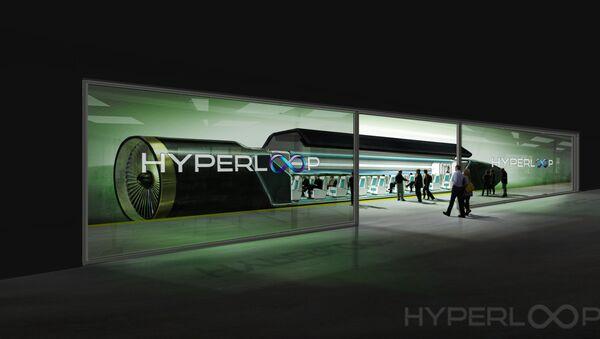 An image showing passengers boarding the Hyperloop transportation system. - Sputnik France