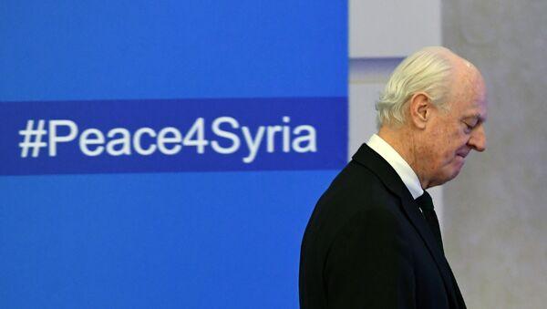 L'envoyé spécial de l'Onu pour la Syrie Staffan de Mistura s'apprête à assister à la première cession des discussions de paix. - Sputnik France