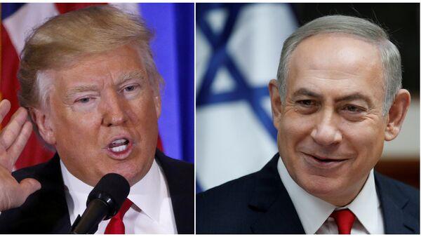 Donald Trump et Benjamin Netanyahu - Sputnik France