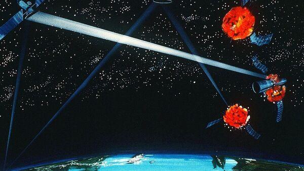 Une arme laser spatiale (concept d'artiste de 1984) - Sputnik France