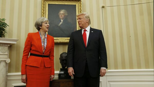 Donald Trump et Theresa May - Sputnik France