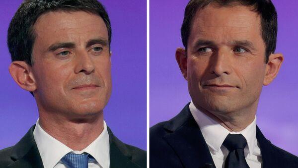 Manuel Valls et Benoit Hamon - Sputnik France