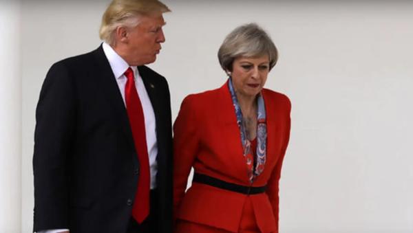 Trump et May - Sputnik France