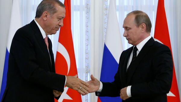 Der türkische Präsident Recep Tayyip Erdogan und Russlands Staatschef Wladimir Putin - Sputnik France