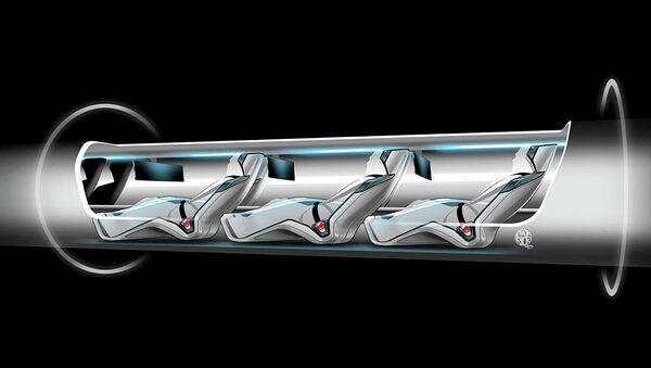 Une capsule Hyperloop avec des passagers  - Sputnik France