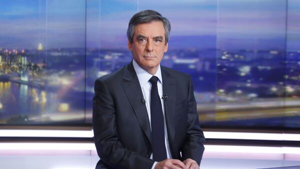 Francois Fillon, former French prime minister, member of The Republicans political party and 2017 presidential candidate of the French centre-right, is seen prior to a prime-time news broadcast in the studios of TF1 in Boulogne-Billancourt, near Paris, France, January 26, 2017 - Sputnik France