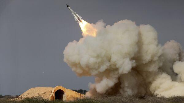 Essai d'un missile iranien. Image d'illustration. - Sputnik France