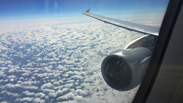 Vista por la ventana del Airbus A321 que operan vuelos de Germanwings - Sputnik France