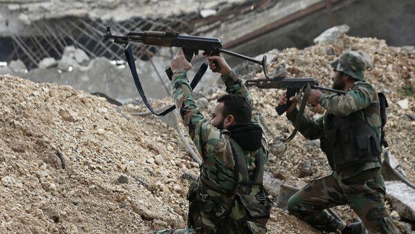 Soldats de l'armée syrienne - Sputnik France