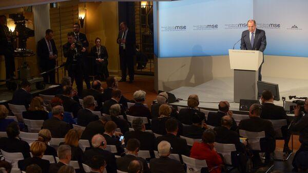 Le ministre russe des Affaires étrangères Sergueï Lavrov en marge de la Conférence de Munich sur la sécurité - Sputnik France