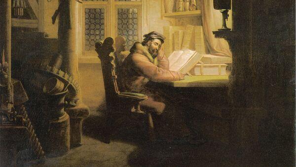 Faust im Studierzimmer (Gemälde von Georg Friedrich Kersting, 1829) - Sputnik France