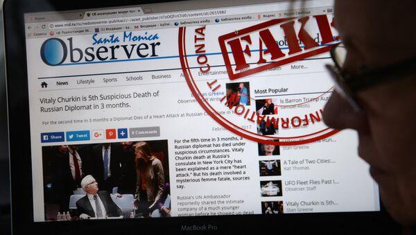 Le site de la diplomatie russe démasquera les «fake news» des médias étrangers - Sputnik France