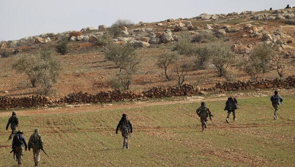 Les combattants de l'Armée syrienne libre aux approches d'Al-Bab - Sputnik France