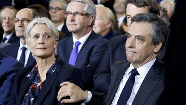 Francois Fillon et Penelope Fillon - Sputnik France